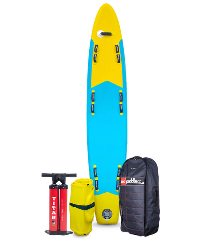 Prone Rescue board package with pump and bag
